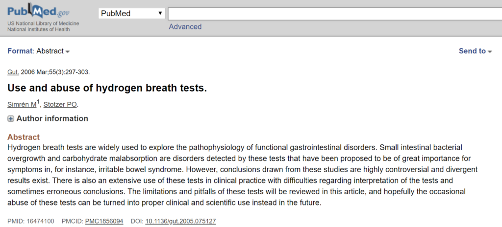 What Is the Best Test for SIBO: Lactulose or Glucose Breath Testing? - ref 10
