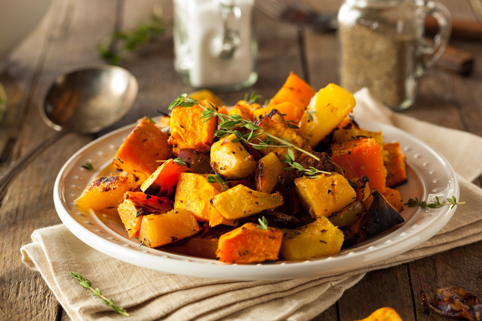 ibs diet: Homemade Roasted Root Vegetables in a plate