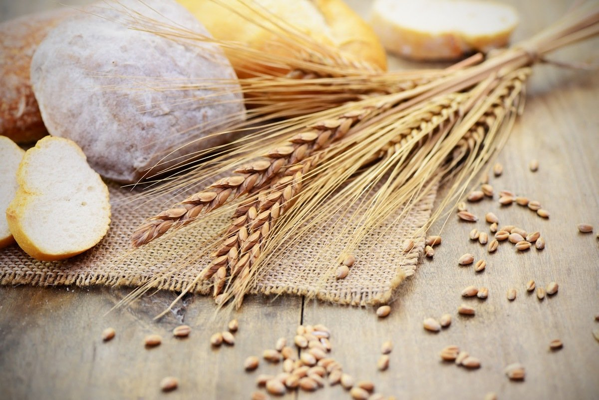 foods that cause eczema: Grains and bread on a table