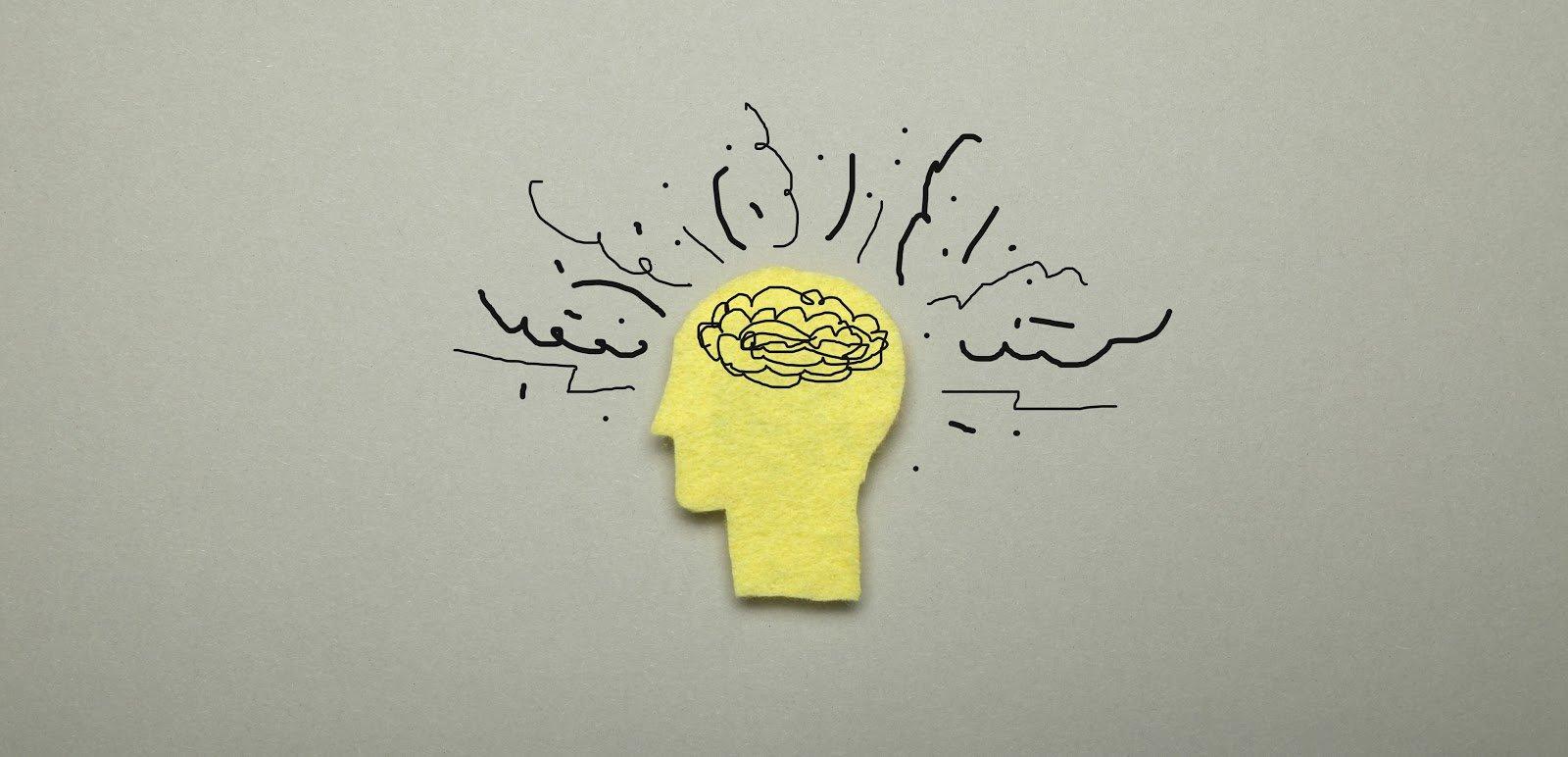 Illustration depicting brain fog
