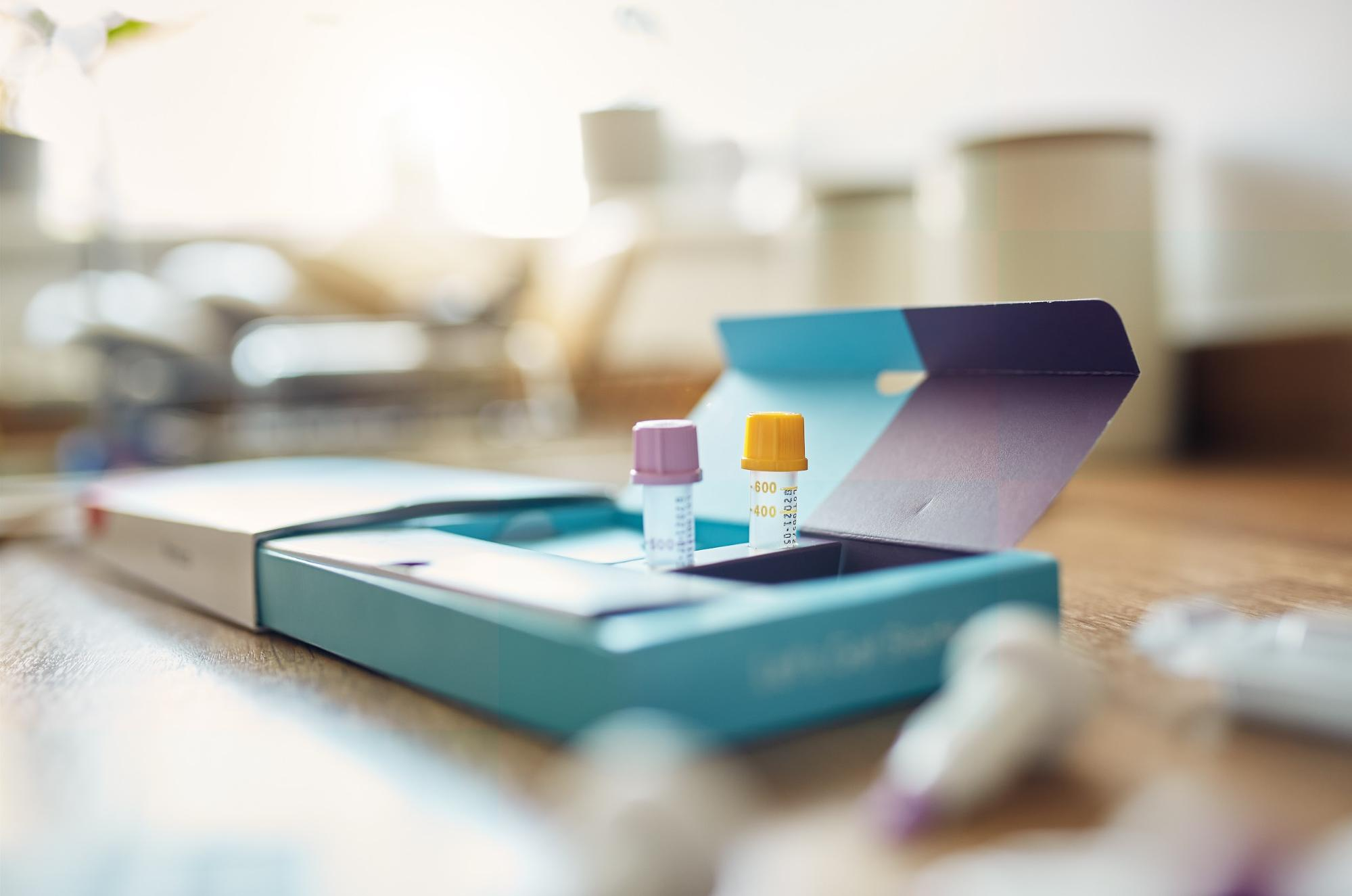 Mycotoxin Testing: Testing kit on a table