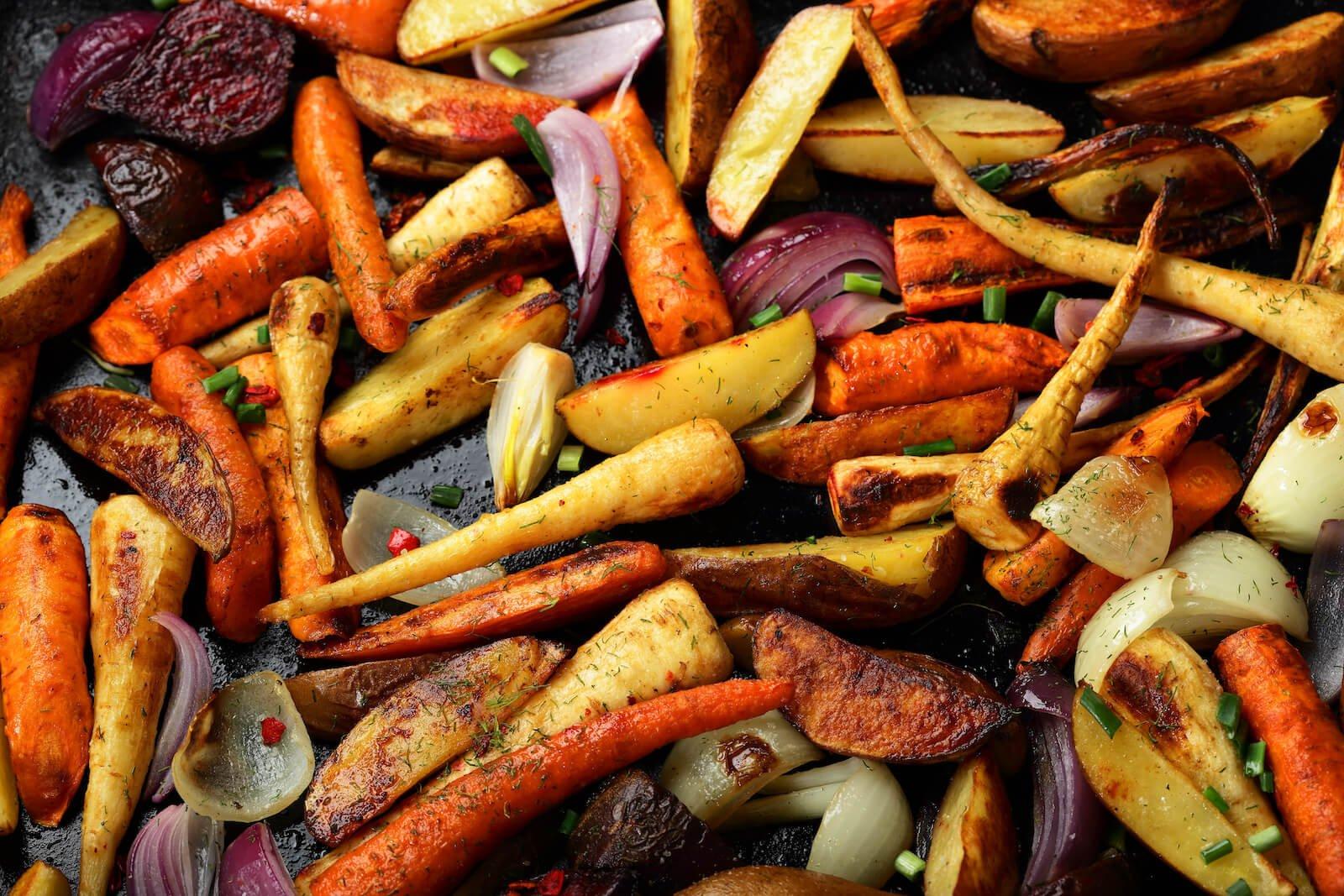 Elimination diet meal plan: oven-baked vegetables